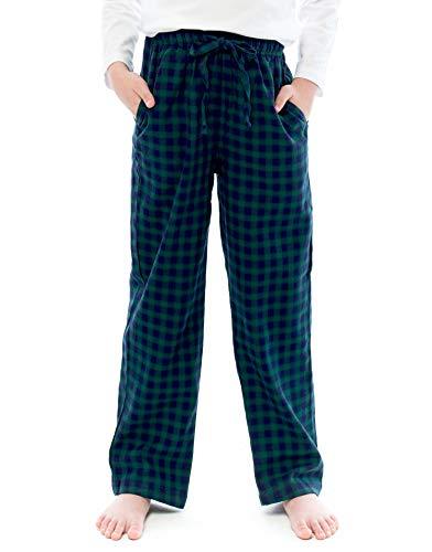TINFL Kids Boys 100% Cotton Pajama Lounge Pants 3BP-12-Greennavy XL