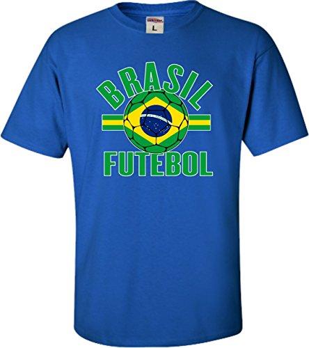 Go All Out YM 10-12 Royal Youth Brasil Futebol Brazil Football Soccer Futbol (Brazil Soccer Youth T-shirt)
