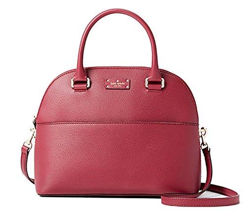 Kate Spade Grove Street Carli Leather Crossbody Bag Purse Satchel Shoulder Bag (Rioja)