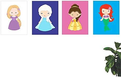 4 Quadros Decorativo Desenho Princesas Disney 40x30cm Amazon Com