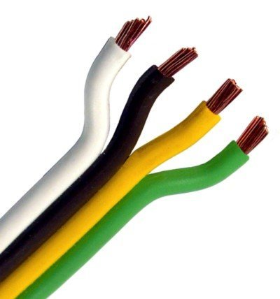 Parallel Bonded Wire - Pico 8141PT 14 Gauge 4 Conductor Parallel Primary Wire 25' per Package