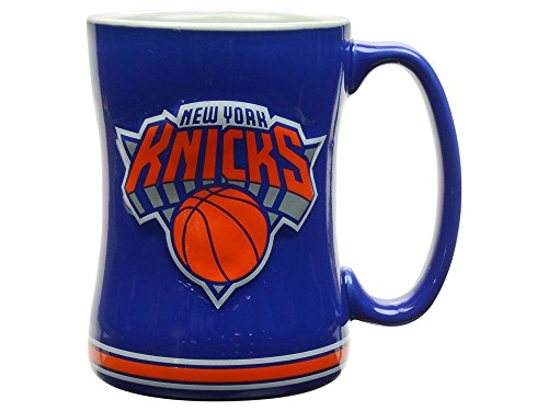 Boelter Brands NBA New York Knicks 298526 Coffee Mug, Team Color, 14 oz