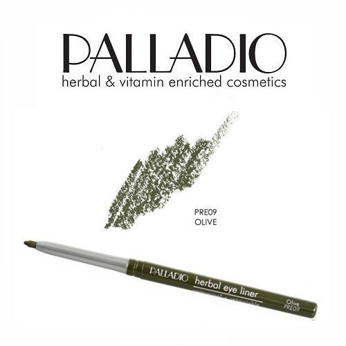 2 Pack Palladio Beauty Retractable Eye Liner Pencil 09 Olive