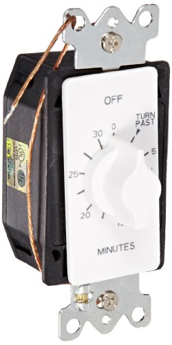 NSi Industries TORK A530MW In-Wall Spring Wound 30-Minute Mechanical Interval Timer Switch - for Indoor/Outdoor Lighting and Fans - Automatic Off - White by Tork