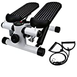 Basde Portable Mute Stepper Pedal, Lightweight Household Office Air Stepper Climber Exercise Fitness Sports Stepper Legs Exercise & Fitness Step Machines with Resistance Bands for Wowen Man