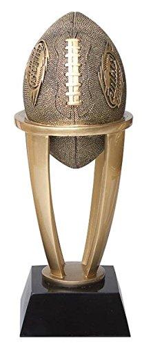 Decade Awards  Fantasy Football Gold Tower Trophy  FFL Gridiron Award | 7.5 Inch Tall - Customize Now]()