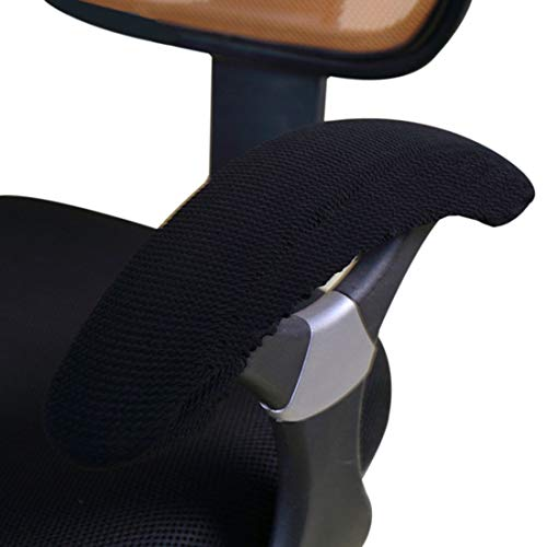 - Freahap Armrest Covers for Office Chair Elastic Fabric Universal Armrest Protector for Desk Gaming Chair Black 1 Pair