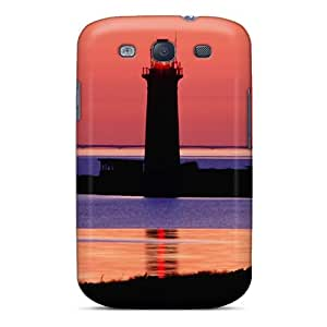 For Galaxy Case, High Quality Lighthouse On Omoe Isl In Denmark For Galaxy S3 Cover Cases
