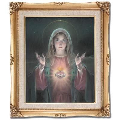 Immaculate Heart of Mary Framed Art by Discount Catholic Store