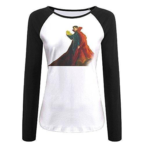 [Creamfly Womens Doctor Strange Long Sleeve Raglan Baseball Tshirt L] (Doctor Watson Costume)