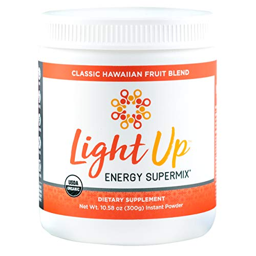 - Inspire Organics Light Up Energy Drink and Pre Workout: Boost Energy, Focus and Stamina, and Rebound from Stress - 30 Servings Vegan, Gluten Free Tropical Flavored Powder