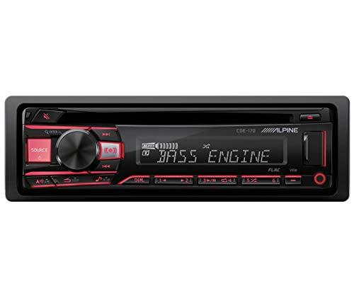 Alpine Single DIN Car Stereo Receiver (Alpine Iphone Car Stereo)