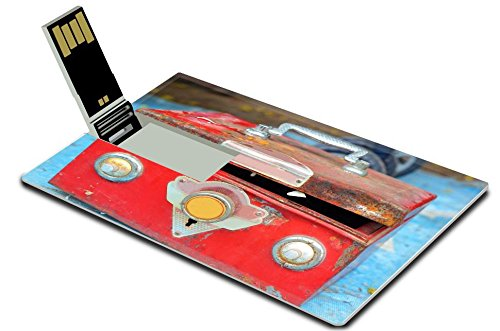 Liili 32GB USB Flash Drive 2.0 Memory Stick Credit Card Size IMAGE ID 33316167 Close up of safe lock vintage style