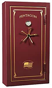 """The Special Forces 60"""" Tall X 32"""" Wide X 28"""" Deep with Handle. Burgundy & Gold, LA Gard Digital Lock"""