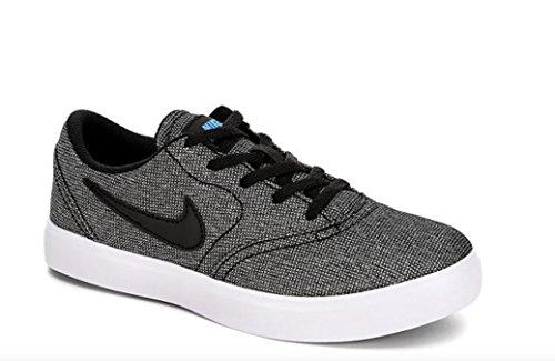 Skateboarding Shoe Boys (NIKE Boy's SB Check Canvas (PS) Skateboarding Shoes (2.5 Little Kid M, Black/Black/White/Photo Blue))
