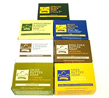 Nubian Heritage Soap Collection – Seven Different Bars