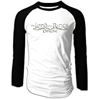Man's Long Sleeve T Shirt Lord Of The Rings Logo Retro Juniors Raglan Baseball Shirts