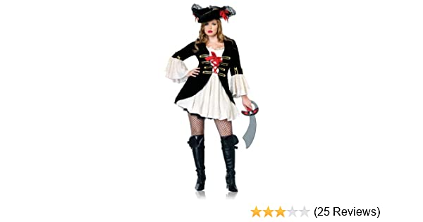 21f2ccdd6dd Leg Avenue Women s Captain Swashbuckler Includes Coatdress With Sleeves And  Skirt