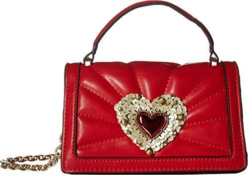 Betsey Johnson Women's Heart Mini Crossbody Red One Size (Handbags With Hearts)