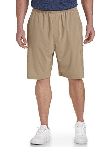 Reebok Big and Tall Rip Stop Cargo Shorts, Khaki 6XL