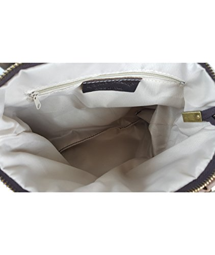 VERA PELLE - Made in Italy, Borsa a mano donna Marrone Braun - S
