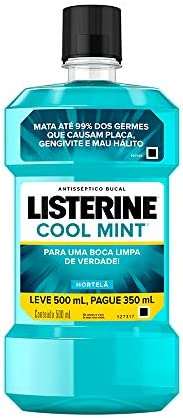 Enxaguatório Bucal Cool Mint, Listerine, L 500ml P 350ml