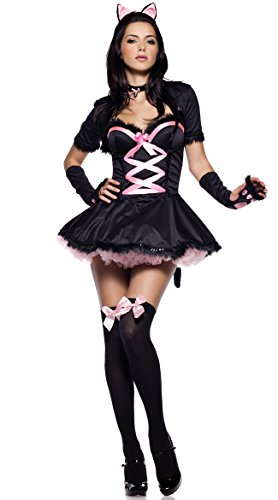 Black Pink Catwoman Clothing Game Uniform Sexy Lingerie Cat Girl Uniform Temptation Halloween Cosplay Costume (004)