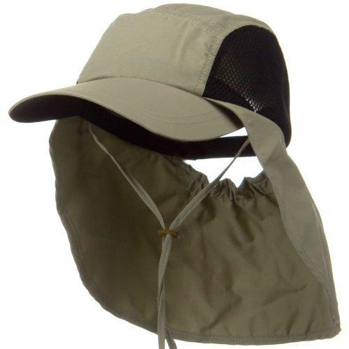 Juniper UV 50+ Talson Side Mesh Flap Cap - Khaki