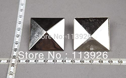 Garment Rivet - 40pcs/lot 35MM Silver Pyramid Studs Punk DIY Rivet for Clothing Shoes Bags Accessories