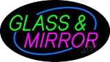 Glass and Mirror Animated Clear Backing Neon Sign 17'' Tall x 30'' Wide