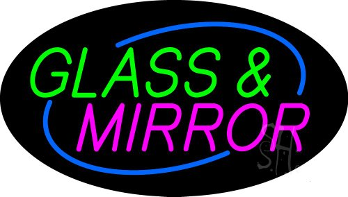 Glass and Mirror Animated Clear Backing Neon Sign 17'' Tall x 30'' Wide by The Sign Store