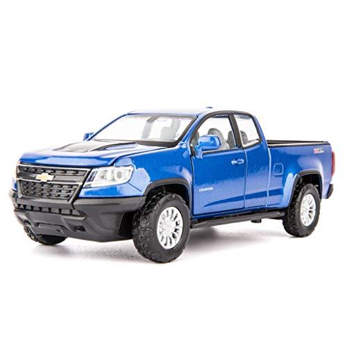 SXET-Model car Model Car Toy Car Alloy Model Car 1:32 Chevrolet Colorado Pickup Model Toy Car Pull Back Toy (Color : Blue)