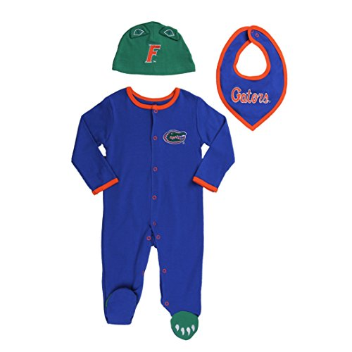 FAST ASLEEP Florida Gators Baby Boy (3pc) Footie, Bib and Hat Set