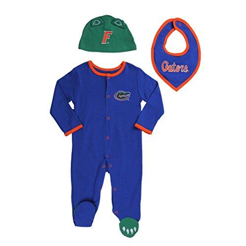 FAST ASLEEP Florida Gators Baby Boy (3pc) Footie, Bib and Hat Set - Florida Gators Onesie