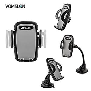 iPhone Car Mount, 3-in-1 Car Vent Phone Mount Windershield Car Phone Holder Dashboard Mount for iPhone, Samsung Galaxy and more