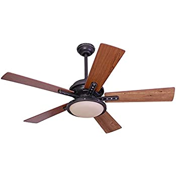 Harbor Breeze Lake Cypress 52 In Black Iron Indoor Downrod Or Close Mount Ceiling Fan With Light