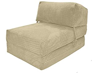 JAZZ CHAIRBED   CREAM DA VINCI Deluxe Single Chair Bed Futon