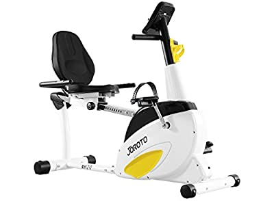 Smart Indoor Recumbent Exercise Bike - JOROTO MH20 Cardio Fitness Cycling Machine Home Stationary Trainer with Pulse
