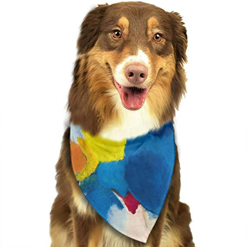 OURFASHION Ernst Wilhelm NAY Irisches Gedicht Bandana Triangle Bibs Scarfs Accessories for Pet Cats and Puppies -