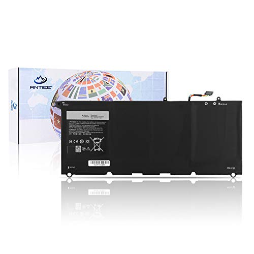 ANTIEE New 56WH 90V7W Laptop Battery for Dell XPS 13 9343 XPS 13 9350 XPS 13D 9343 13D-9343-1808T 13D-9343-350 13-9350-D1708 Series Notebook 5K9CP JHXPY 0N7T6 0DRRP RWT1R DIN02 7.6V 7435mAh 4CELL