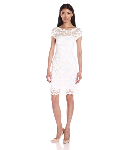 ONYX Nite Womens Short Stretch Lace with Cap Sleeve and V Back