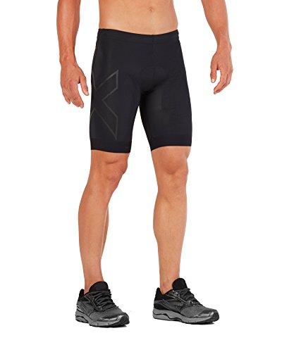 2XU Mens Compression Tri Short, Black/Black, Large