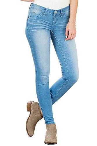 YMI Junior's Juniors Wannabettabutt Jegging, Potassium Wash C213 Size 1 (Ymi Skinny Jeans)