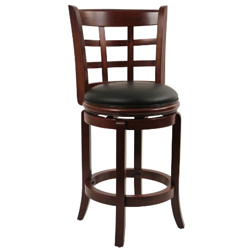 Boraam 41224 Kyoto Counter Height Swivel Stool, 24-Inch, Light Cherry