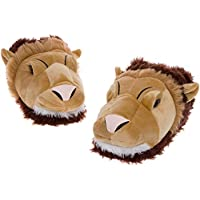 Image of Furry Lion Slippers for Men