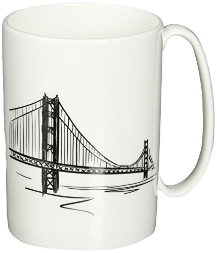 Lenox Tin Can Alley San Francisco Accent Mug, 12-Ounce