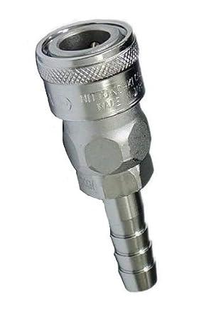 218 PSI Steel 3//8 Size NPT Thread Nitto Kohki Hi Cupla 30SM-NPT Quick Connect Pneumatic Coupler Socket Male 3//8 Size