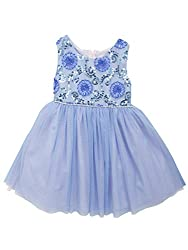 Girls Blue Sequin Party Dress