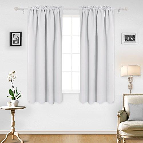 Deconovo Blackout Curtains Bedroom Greyish
