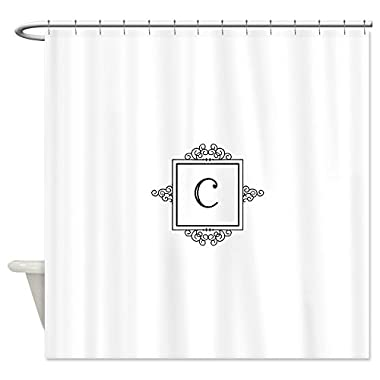 CafePress - Fancy letter C monogram Shower Curtain - Decorative Fabric Shower Curtain